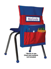 Chairback Buddy™ Pocket Chart, Blue/Red