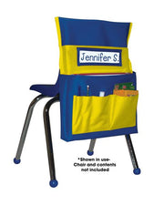 Chairback Buddy™ Pocket Chart, Blue/Yellow