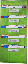File Folder Storage: Lime Pocket Chart