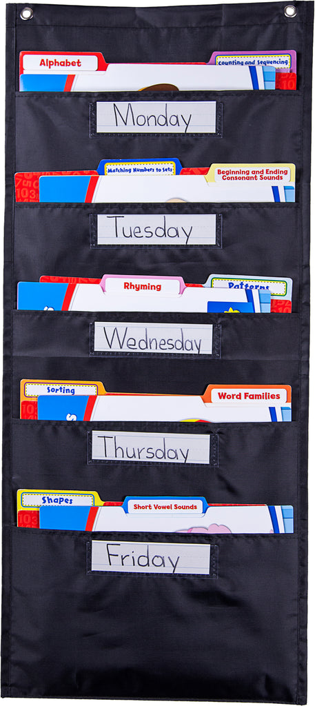 File Folder Storage: Black Pocket Chart
