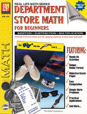 Remedia Publications Real Life Math Series: Department Store Math For Beginners Activity Book