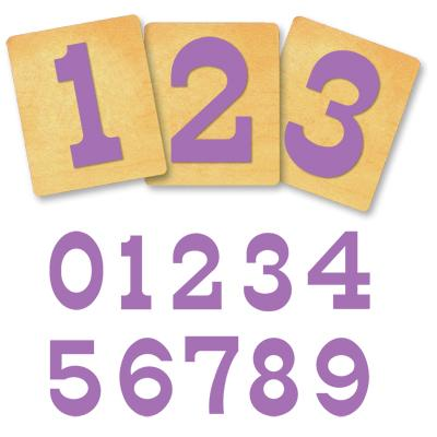 Ellison® SureCut Die Set - Circus Alphabet, Number Set, 4 Inch