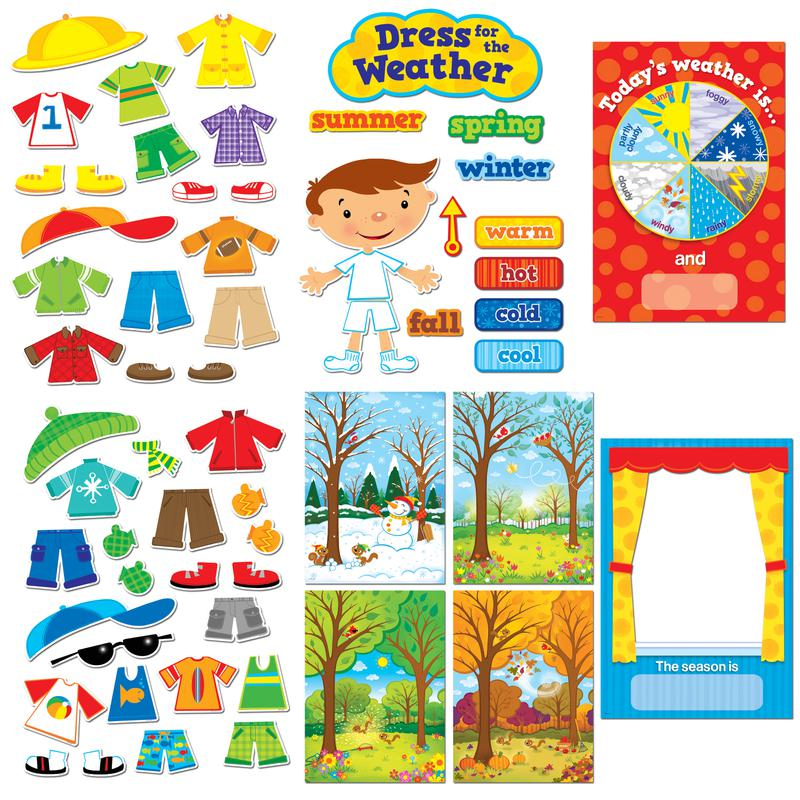 dress for the weather bulletin board set ctp1640 � supplyme