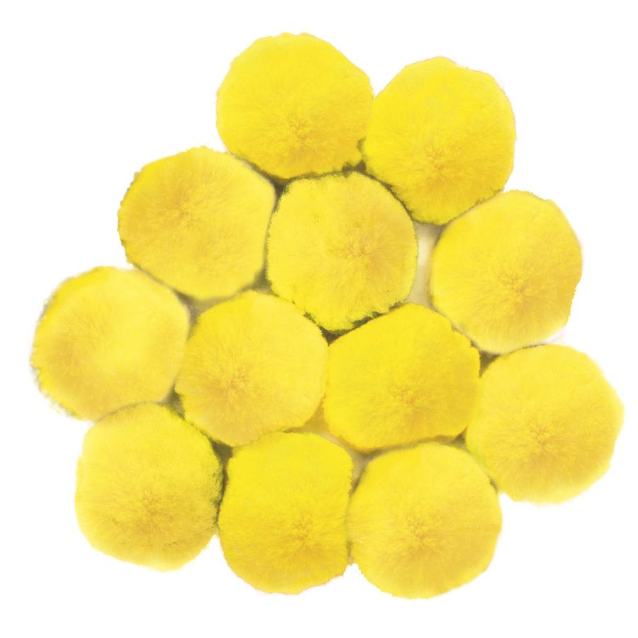 Pom Pons, Yellow 90mm