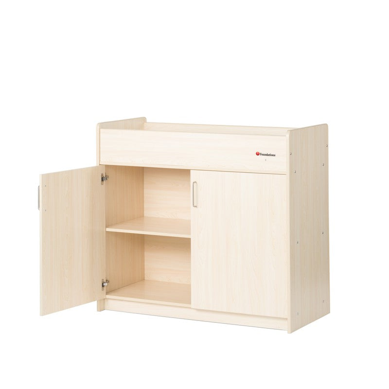Foundations® SafetyCraft® Changing Table, Natural