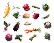 Vegetables Realistic Stickers