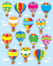 Hot Air Balloons Shape Stickers