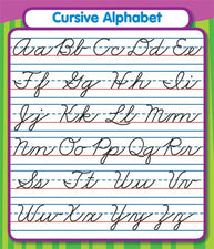 Cursive Alphabet Study Buddy Stickers