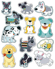 Carson Dellosa Hot Diggity Dogs Shape Stickers