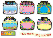 Birthday Cakes Bulletin Board Set
