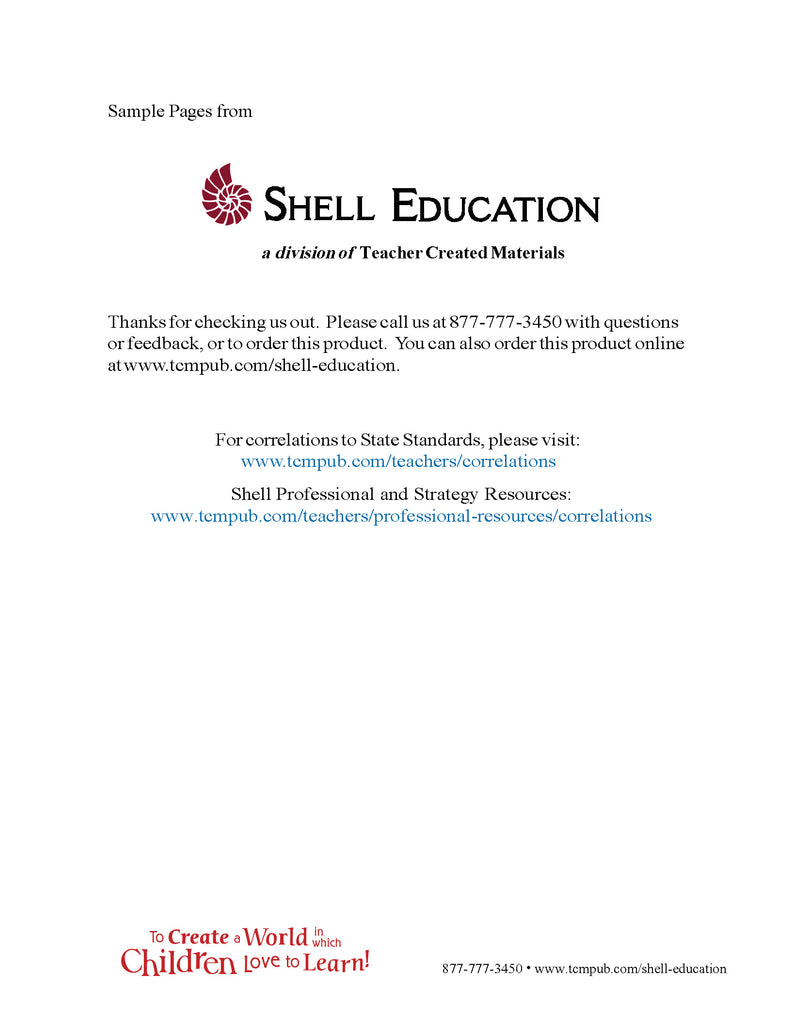 Shell Education 180 Days of Problem Solving for First Grade