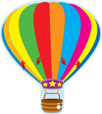 Hot Air Balloon Two-Sided Decorations