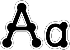 Letters Dot-To-Dot Lowercase Black 2 & Up Punctuation & Numerals
