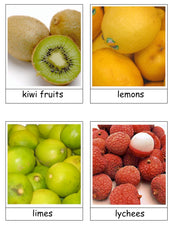 Fruit Flash Cards - Spring Botany Unit