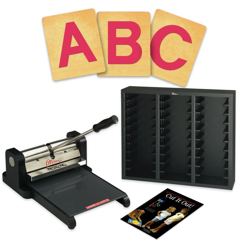Ellison® Prestige Pro Starter Set with SureCut Block Capital Letters, 4 Inch
