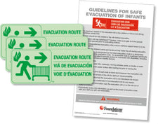 Evacuation Route Sign Kit