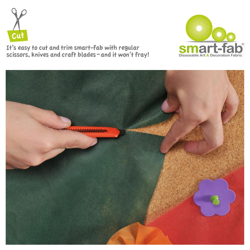 "Smart-Fab® Cranberry Fabric, 48"" x 40' Roll"