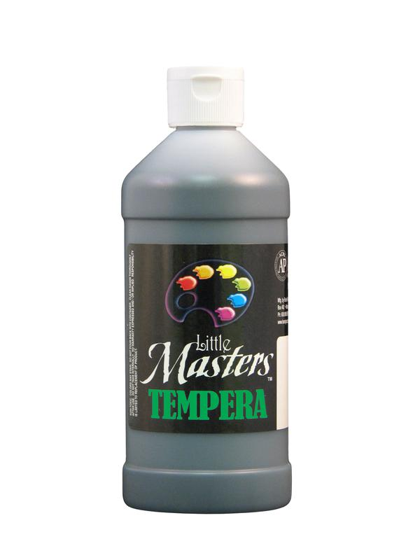 Little Masters Black 16 Oz Tempera Paint