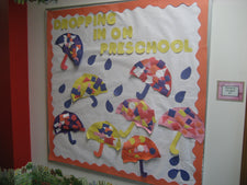 Dropping In On Preschool! - Spring Bulletin Board Idea