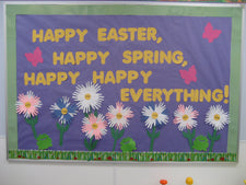 Happy, Happy Everything! - Spring Bulletin Board Idea