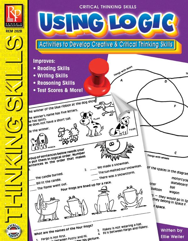 Remedia Publications Critical Thinking Skills Activity Book: Using Logic