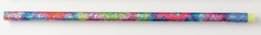 Decorated Pencils Tie Dye Glitz 1 Dozen Assorted
