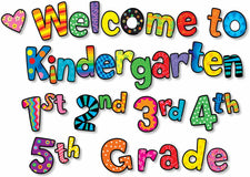 Welcome To Kindergarten, 1st, 2nd, 3rd, 4th, 5th Grades Mini Bulletin Board Set
