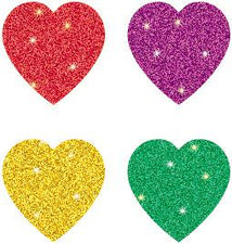 Hearts, Multicolor Chart Seal Stickers