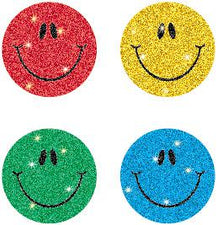 Smiley Faces, Multicolor Chart Seal Stickers