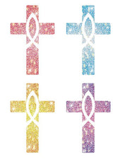 Crosses Dazzle Stickers