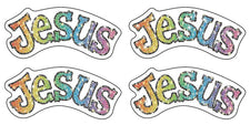 Jesus Dazzle Stickers