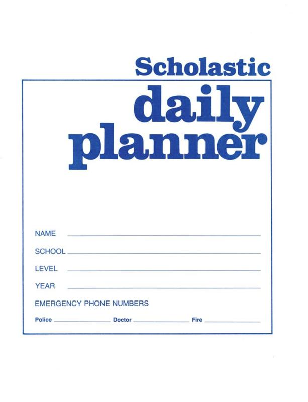 Scholastic Daily Planner