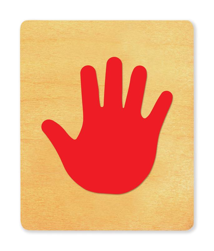 Ellison® SureCut Die - Handprint, Child (Basic Beginnings), Large