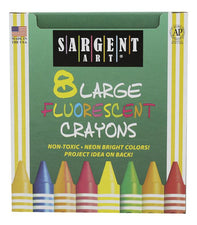 SA Fluorescent Crayons, Large, 8 Colors