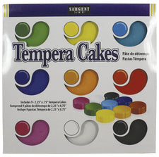 9 Count Assorted Sargent Art Tempera Cakes