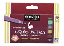 Liquid Metals Metallic 6 Count Washable Markers