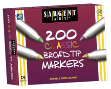 Sa Markers Best Buy Assort 8 Colors Broad Tip 200/Markers
