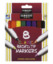 Sargent Art Classic Markers Broad Tip, 8 Colors