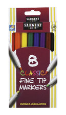 Sargent Art Classic Markers Fine Tip, 8 Colors