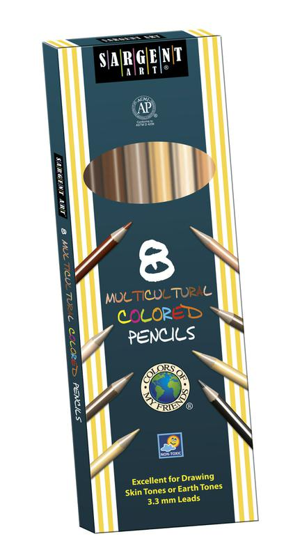 8 Count Sargent Colors Of My Friends Multicultural Pencil 7In