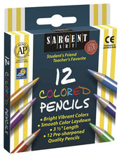 Sargent Art Half-Sized Colored Pencils 12 Color Set