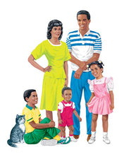 African-American Family Pre-Cut Flannelboard Set