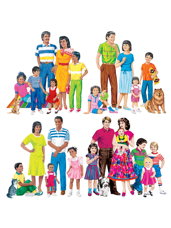 Multicultural Families 4-Set Flannelboard Pre-Cut