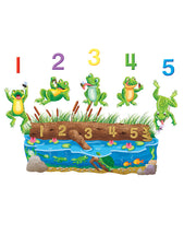 Five Speckled Frogs Flannelboard Set