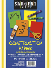 Construction Paper 50 Sheet Assorted Color Pack