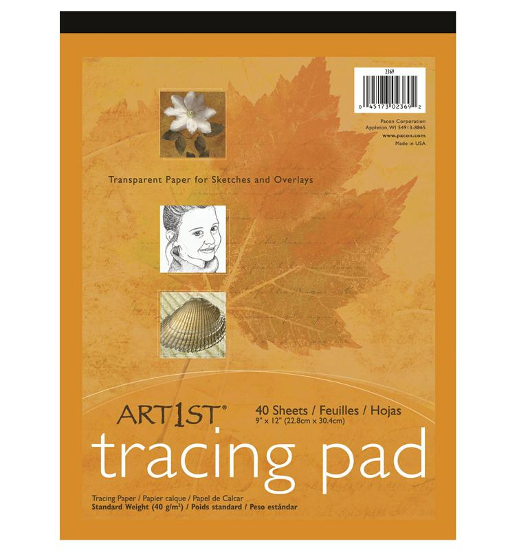 "Art1st® Tracing Pads, 9"" x 12"", 40 Sheets"