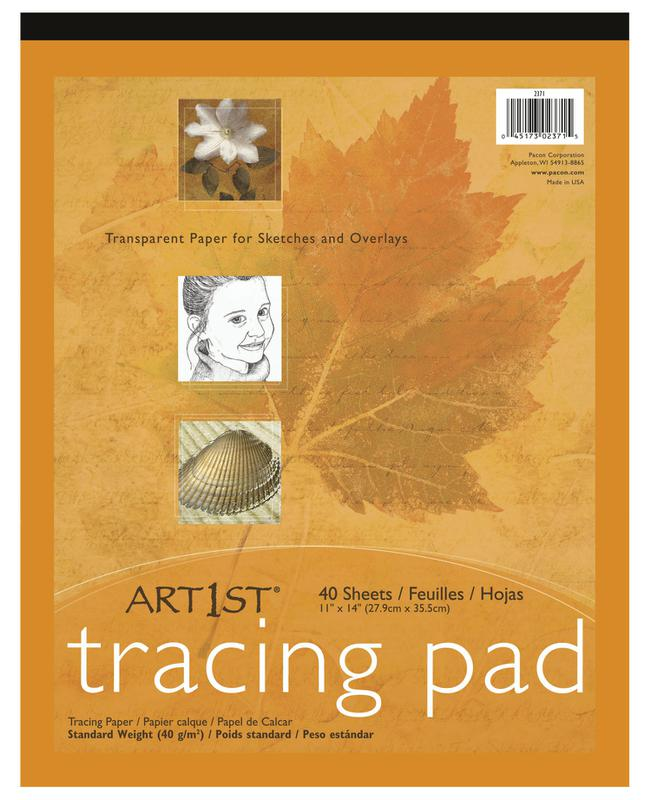 "Art1st® Tracing Pads, 11"" x 14"", 40 Sheets"