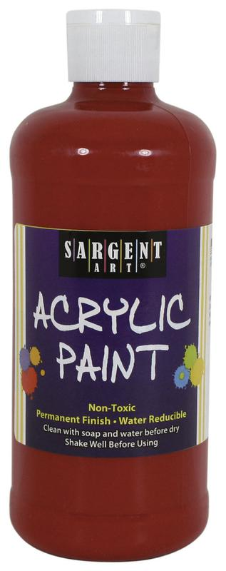16 Oz Acrylic Paint - Red