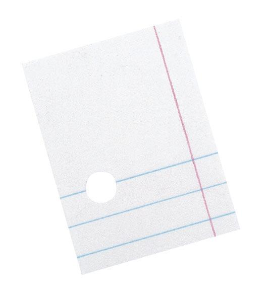 Composition Paper, 8 1/2″ x 11″ College Rule