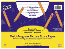 Multi-Program Handwriting Picture Story Paper, 12″ x 9″ Grade K & 1